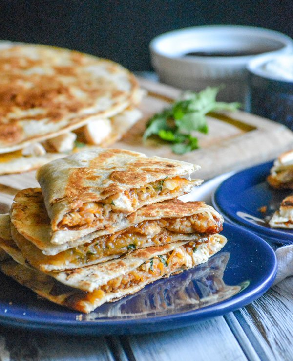 Cheesy Barbecue Chicken Quesadillas