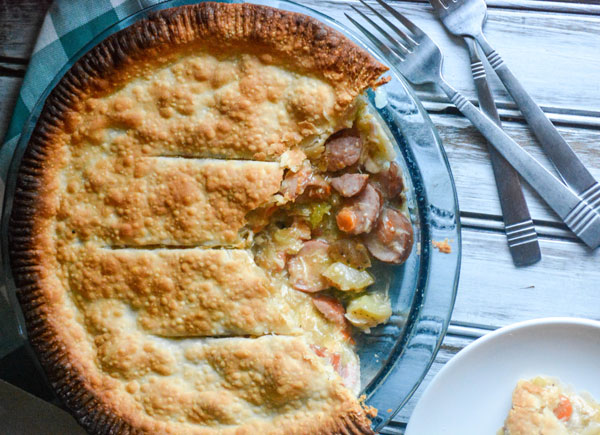 Smoked Sausage & Chicken Creole Pot Pie