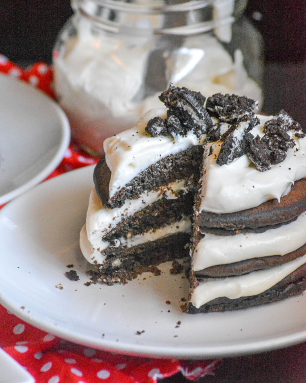 Double Stuffed Oreo Pancake Stacks
