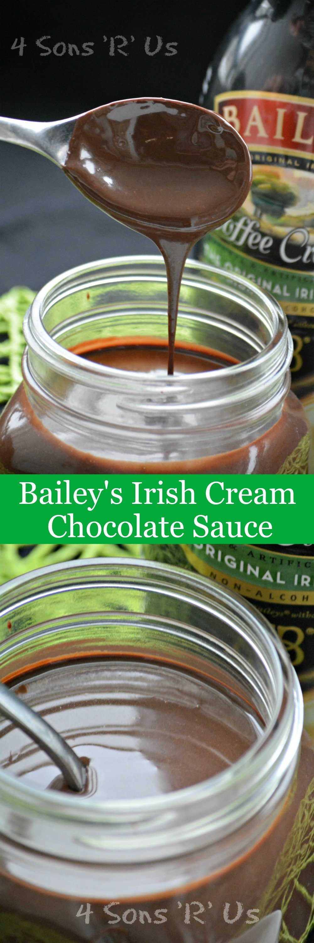Rich & creamy this fudgey Bailey's Irish Cream Chocolate Sauce is quick, easy, and will knock your socks off with flavor. Perfect over ice cream, donuts, or even stirred into your morning cup of coffee- this sauce is a must-have on hand for a sweet simple moment of indulgence.