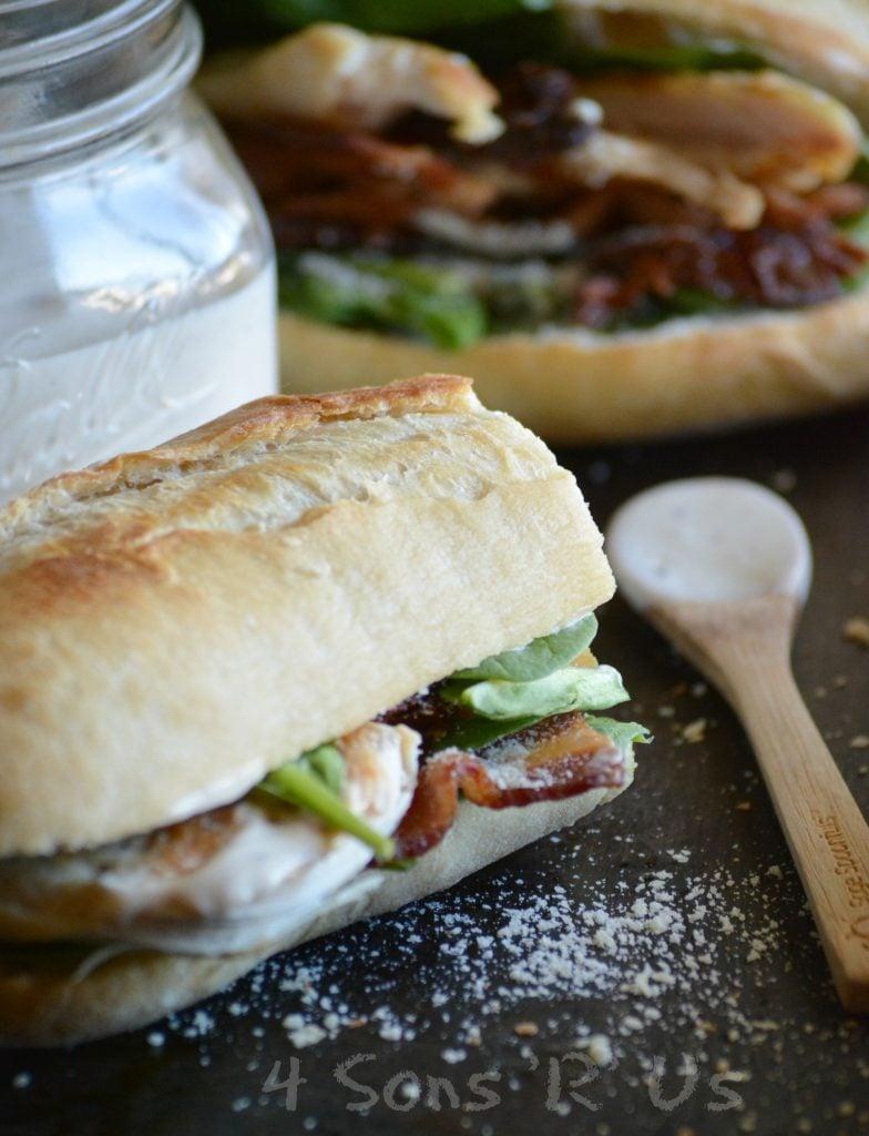 Chicken Caesar Club Style Sub Sandwich
