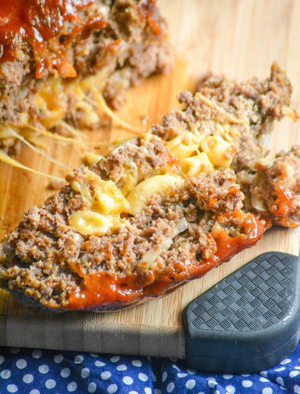 Barbecue Meatloaf with Macaroni & Cheese