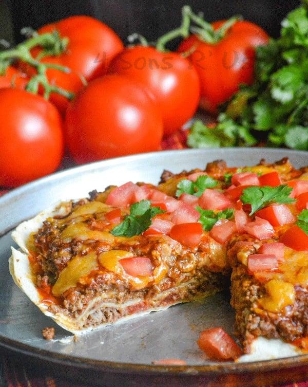 Meaty Double Decker Mexican Pizza