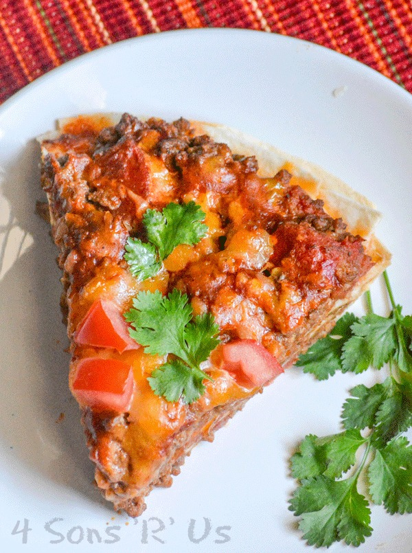 Hearty Ground Beef Mexican Pizza