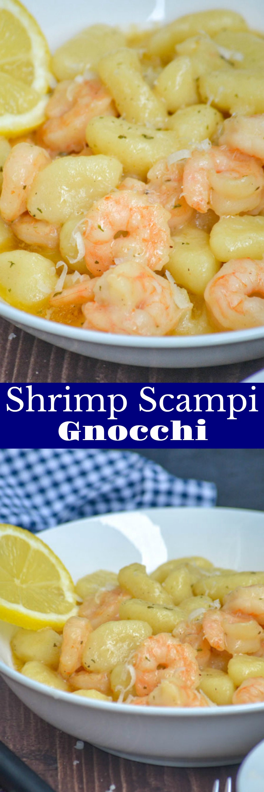 Gnocchi is even better than pasta, and takes on flavors just as well. Paired with shrimp in a garlic butter sauce, with a teensy bit of cream? You've got this Gnocchi Shrimp Scampi that's a to-die for dinner, even on a budget.