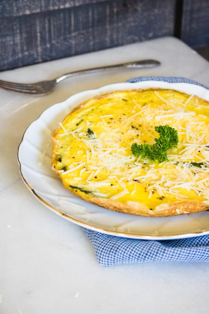 Quick & Easy Cheesy Cheddar Asparagus Frittata