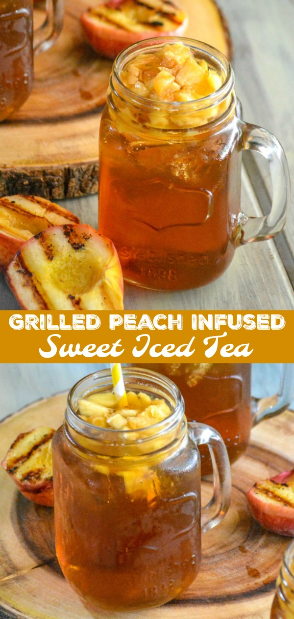 Sweet tea is a Southern staple, and every family has their own tried and true recipe they swear by. Did you know you could infuse your tea with fruit to make it an out of this world experience? This Grilled Peach Infused Sweet Iced Tea is a truly refreshing experience.