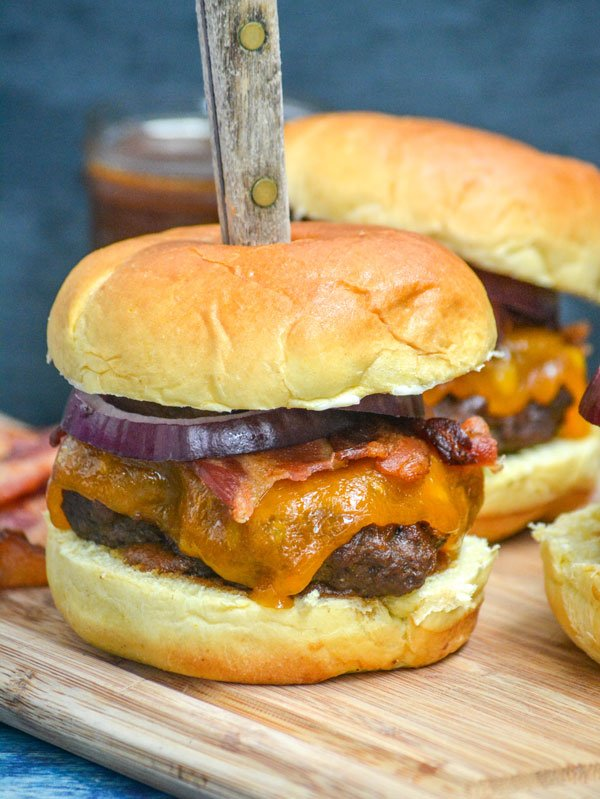 Pineapple Barbecue Sauce Smoked Whiskey Bacon Cheeseburgers
