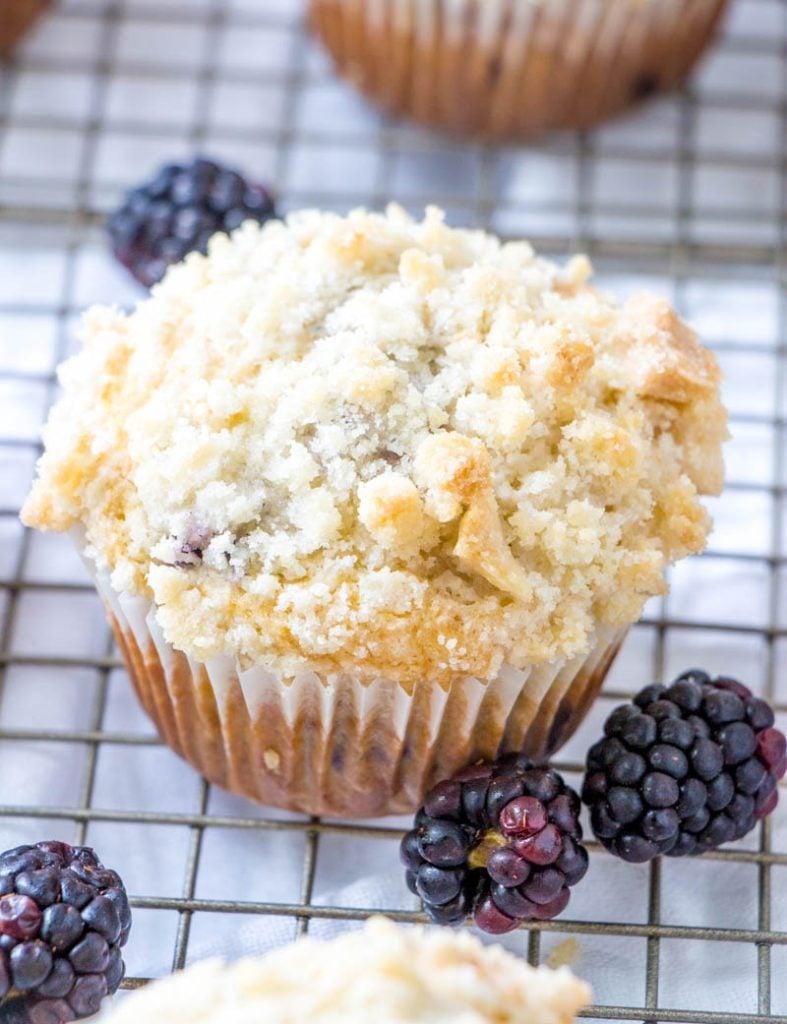 Blackberry Cobbler Muffins
