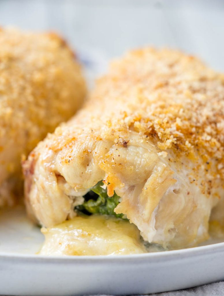 Spinach & Cheese Stuffed Cajun Chicken Breasts
