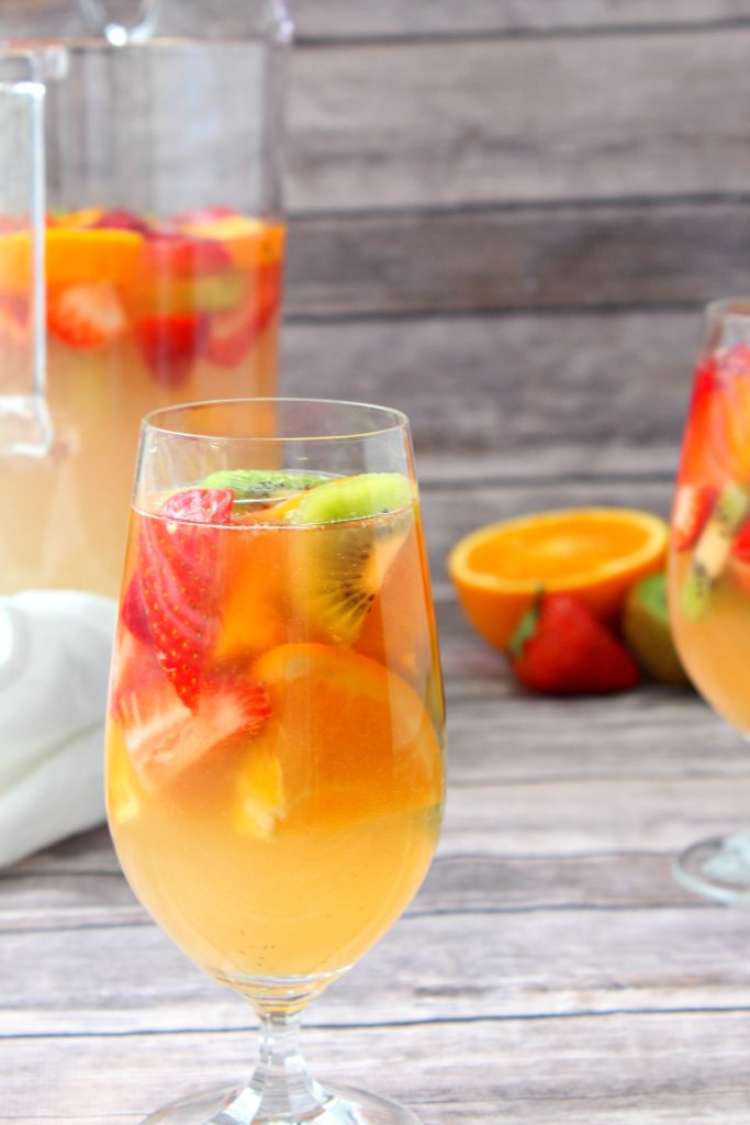 white wine and rum sangria