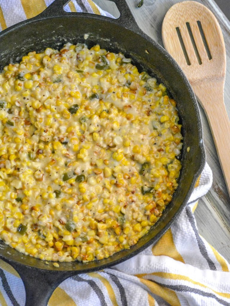 Smoked Jalapeno Cheddar Creamed Corn