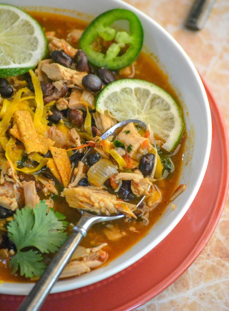 Healthy Chicken & Black Bean Soup