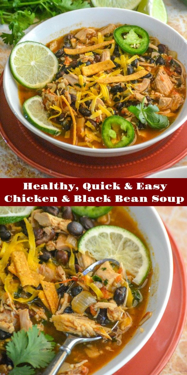 If you didn't think soup was for Summer, then check out this Healthy Chicken & Black Bean Tex Mex Soup. Packed full of protein and fiber, it's a beautiful blend of flavors you crave, in a single soup bowl, that won't weigh you down. It's begging to be topped with your favorite fixin's!