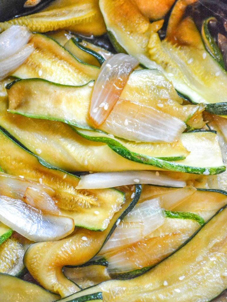 Japanese Steakhouse Hibachi Style Zucchini & Onions