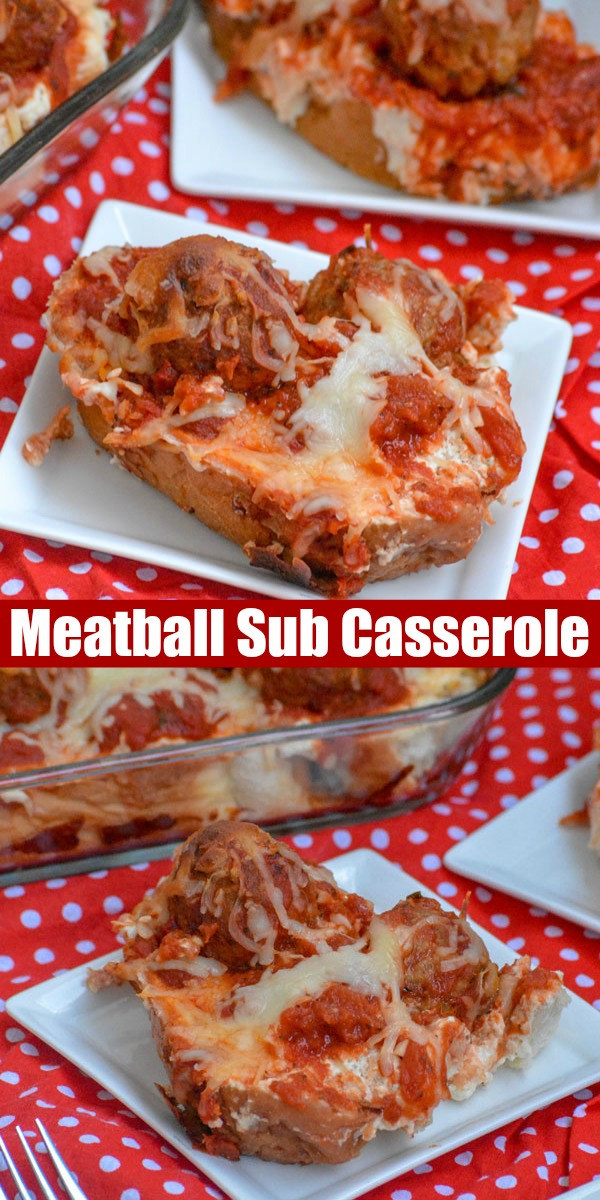 Casseroles are a busy parents' best friend. Shoot, they're my best friend. This Meatball Sub Sandwich Casserole is the less messy counterpart of one of those go-to meals you lean toward on a busy night. Everyone's happy with this recipe!