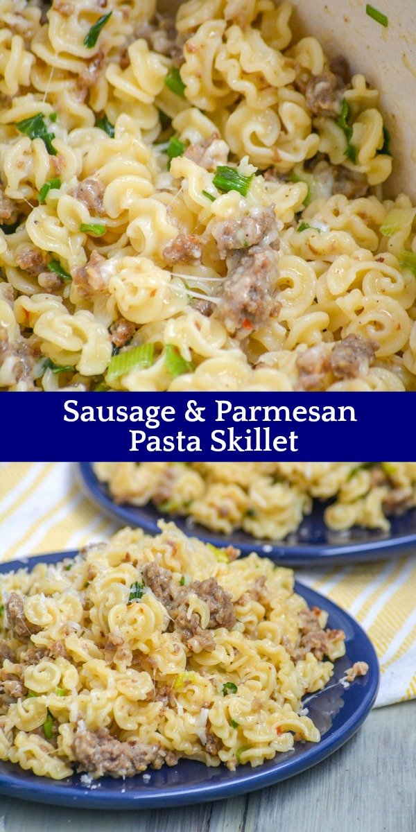 An easy meal with a short ingredient list, this Simple Sausage & Parmesan Pasta Skillet is seasoned to flavor perfection. Keep things light on hot Summer nights with a simple pasta dish for dinner.
