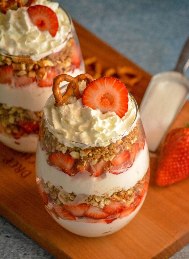 Strawberry Pretzel Salad Parfaits
