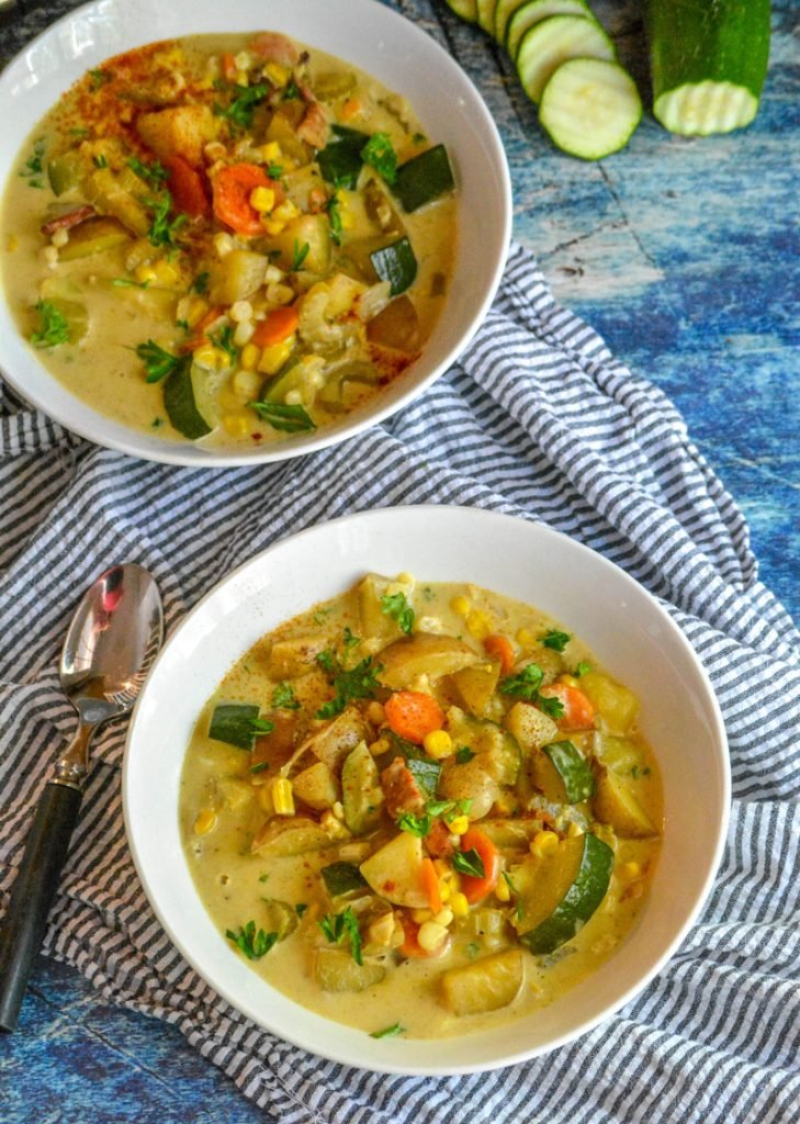 Zucchini & Sweet Corn Summer Soup