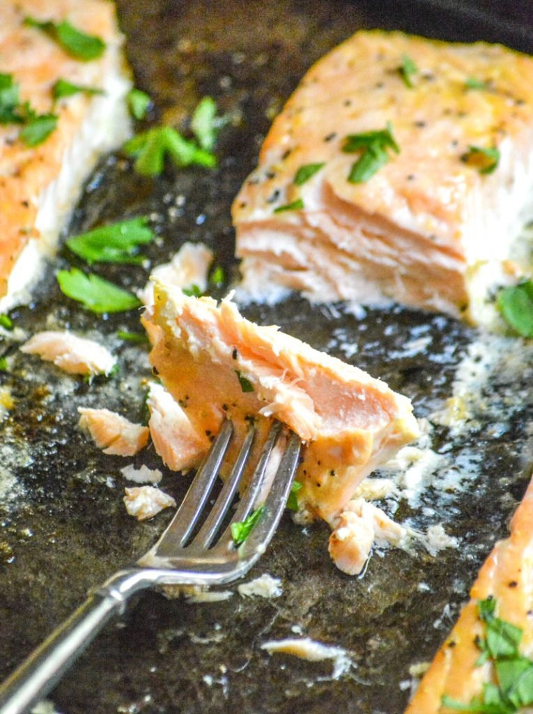 Oven Baked Buttery Lemon Pepper Salmon