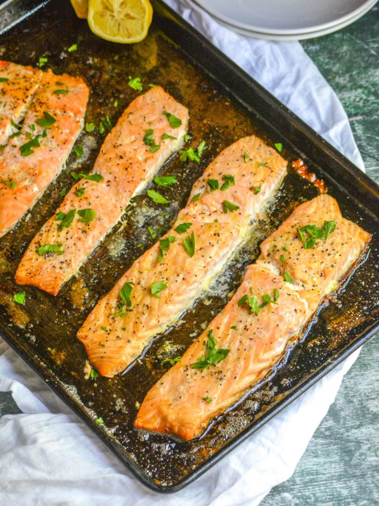 Baked Lemon Pepper Salmon - Fit Foodie Finds
