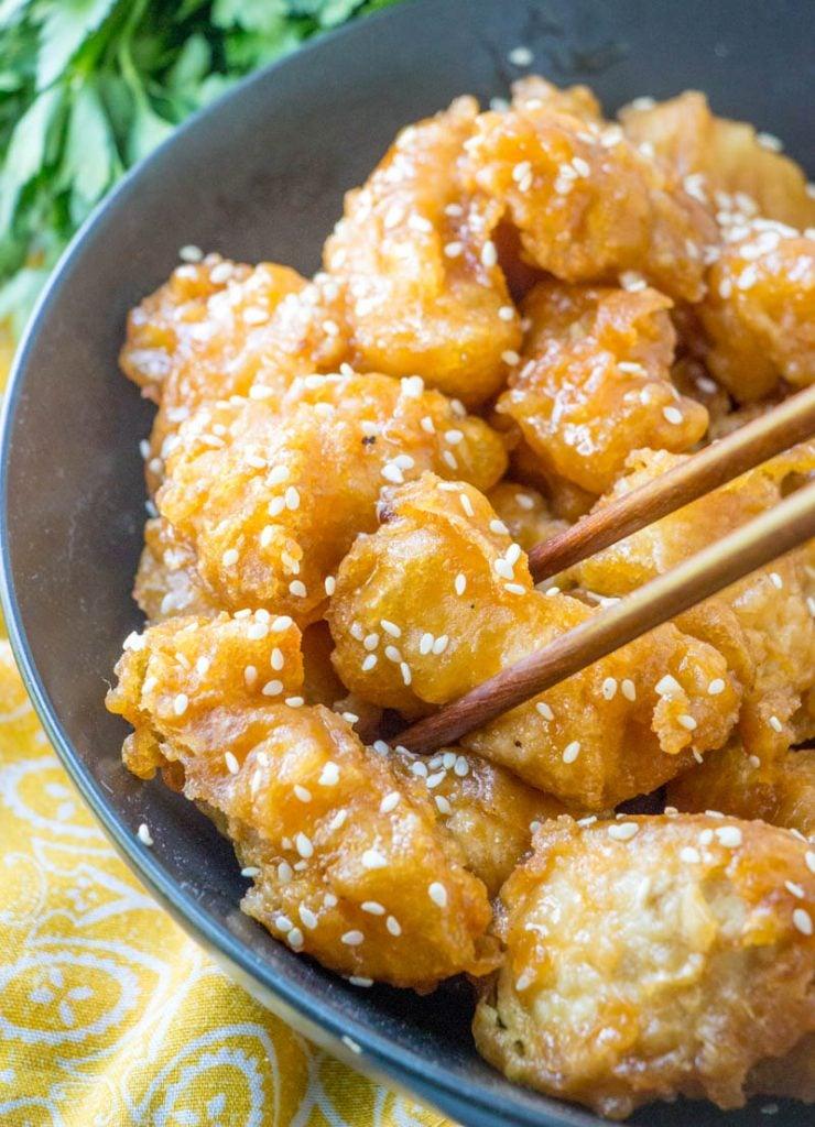 Asian Style Crispy Honey Chicken