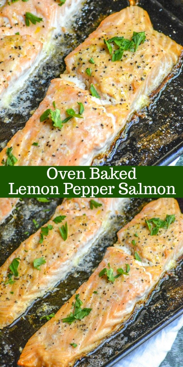 Oven Baked Buttery Lemon Pepper Salmon 4 Sons R Us