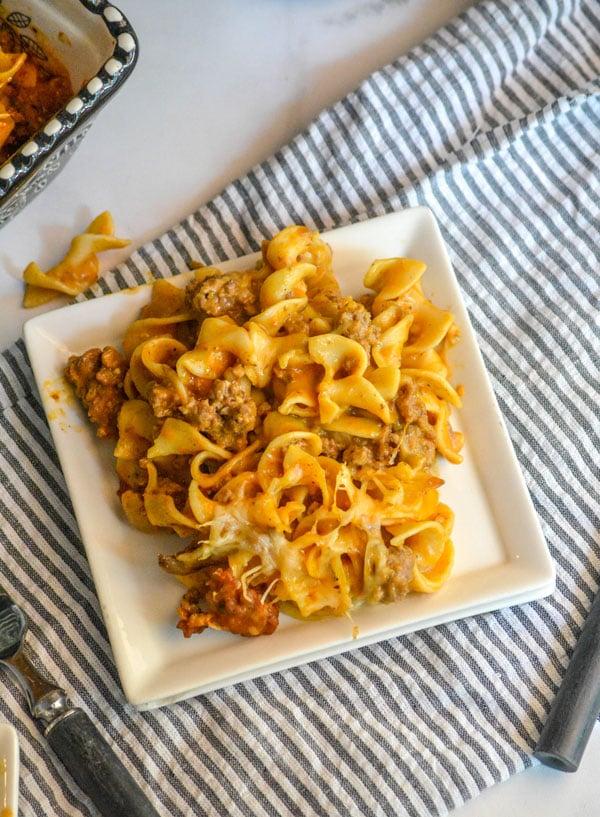 Beefy Cheesy Tomato Casserole