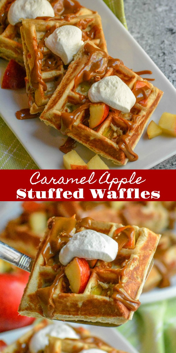 It's hard to imagine anything better than fluffy Belgian-style waffles, but picture them filled with a sweet caramel apple filling, served warm with a thick caramel drizzle, and a dollop of freshly whipped cream. These Caramel Apple Stuffed Waffles are an apple-themed dream for breakfast, brunch, even dessert!