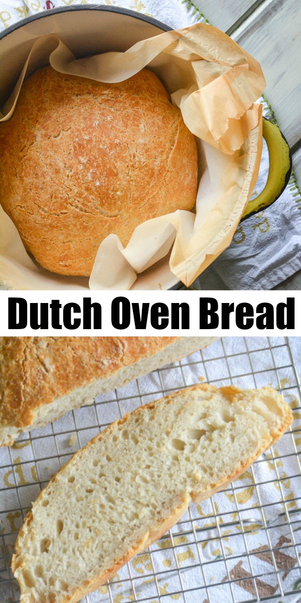 Homemade bread is just 4 simple ingredients away with this easy, no-knead, artisan-style Crusty Dutch Oven Bread. If you haven't considered giving it a try before, get your dutch oven out, and get going!