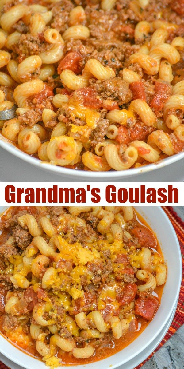 Looking for a new way to revive the age old combination of pasta & sauce? Grandma's American Goulash is the yummiest way to do just that. Ground beef, your favorite pasta, a blend of cheeses, made in a single pot and all in a savory tomato based sauce- what's not to go ga-ga for?!