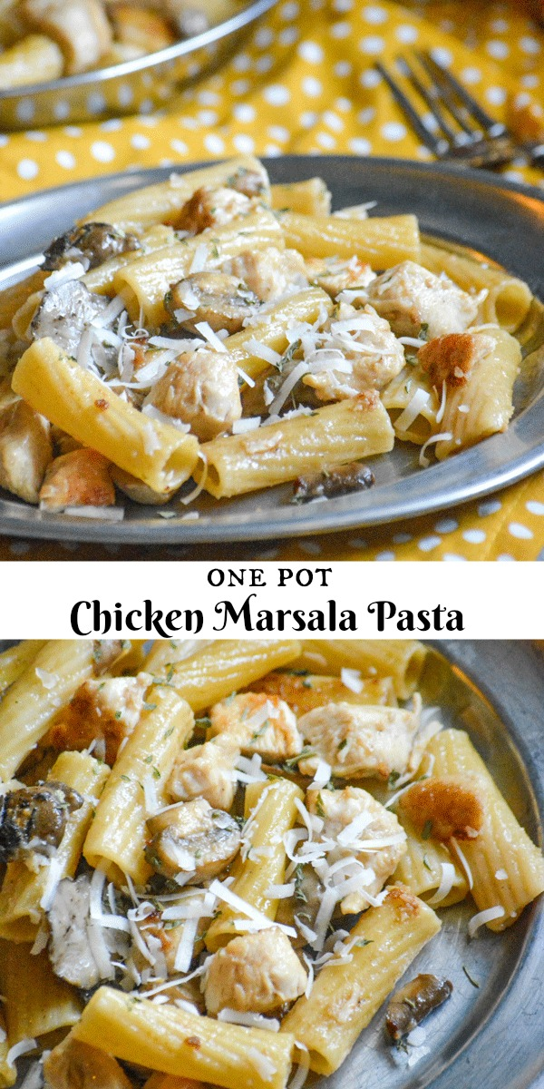 Craving the chicken marsala you love, but don't think you have the time? This 20 minute One Pot Chicken Marsala Pasta is the gourmet flavor you're craving, whipped up in a single pot with the accompanying pasta thrown right in- making it everybody's Italian dream dinner.