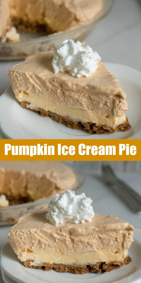 A delicious dessert, this Pumpkin Ice Cream Pie is a smooth, creamy pumpkin infused treat. Served on a sweet ginger snap crust, with a dollop of rich whipped cream, it's the ultimate dessert to serve on warm Fall evenings.