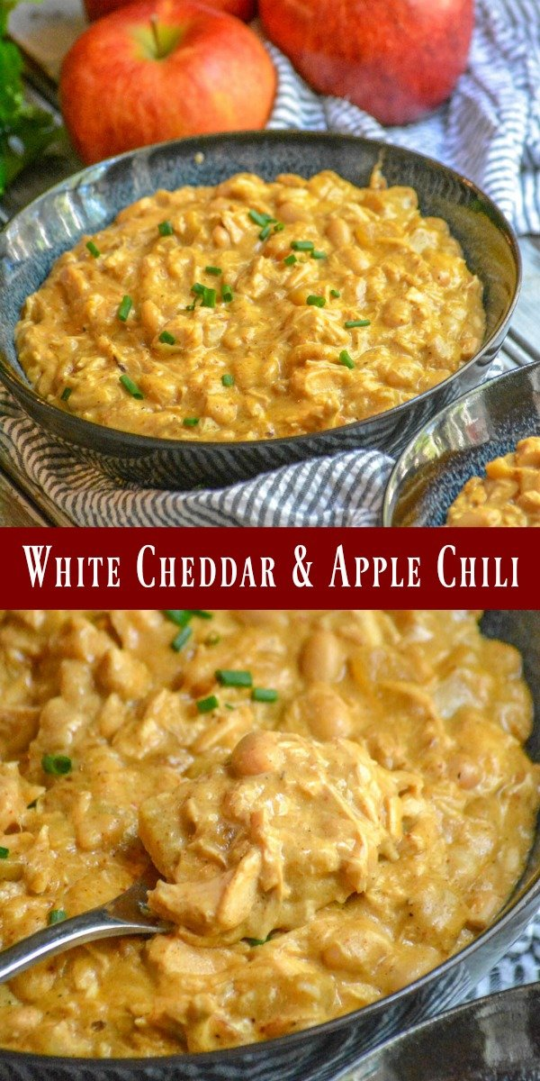Chili doesn't have to be all about 'the meat'. This White Cheddar & Apple Chicken Chili is the compromise your stove top's been looking for! A sweet, savor bent on a Southern classic- it's guaranteed to be a hit come dinner-time.