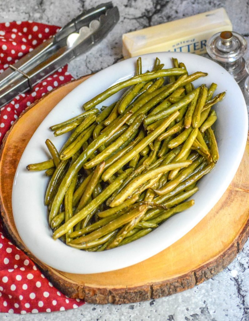 Butter Braised Smoked Green Beans