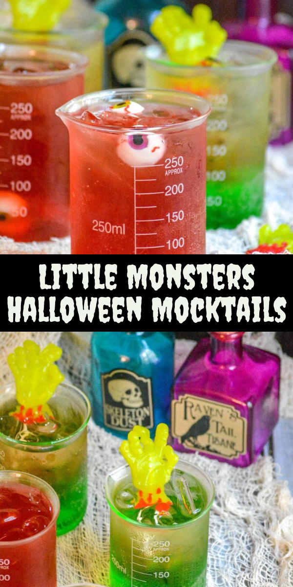 Do you want your Halloween party to set the bar and impress all the guests, then you want our recipes for Little Monster Halloween Mocktails. A sweet, layered, festive drink- these will appeal to all of your guests!