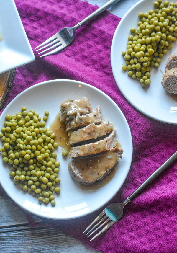 Pork Tenderloin with Apple Cider Gravy