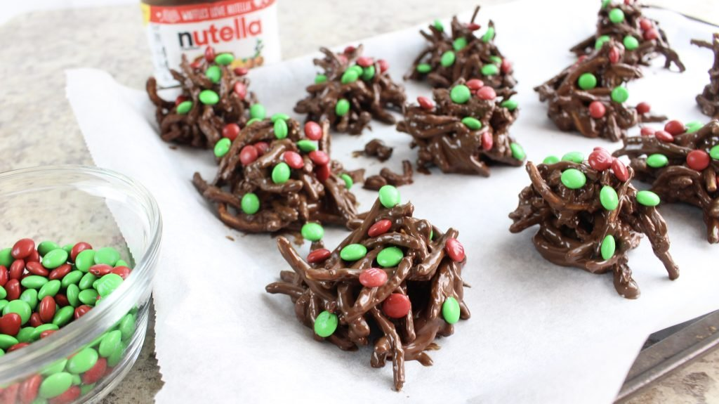 Holiday Nutella Haystack Cookies