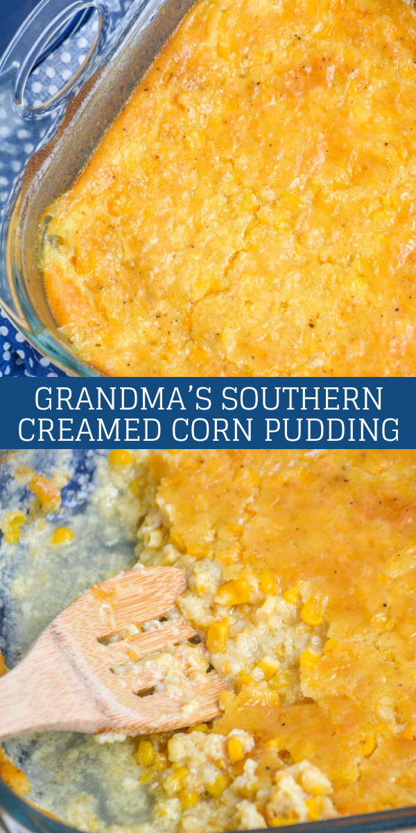 Looking for a new way to impress guests with a delicious side dish? Look no further than Grandma's Southern Creamed Corn Pudding. Surprisingly simple & using pantry staples, it pairs perfectly with just about any meat- especially around the Holidays.