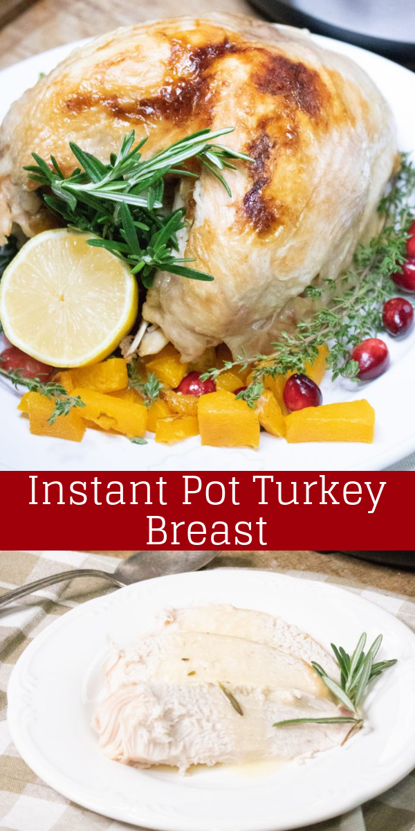 You can enjoy your turkey, and not have to buy a full size bird too. Make your dinner, and Holiday, easier with this quick & easy Instant Pot Turkey Breast recipe. The result's a golden roasted, freshly seasoned and flavorful sliced entree in just 40 minutes.