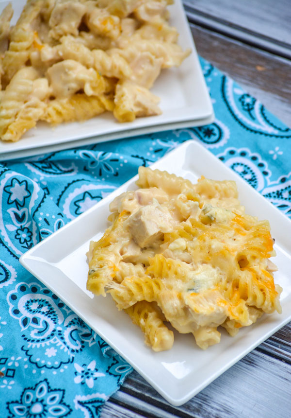 Three Cheese Chicken & Rotini Pasta Casserole