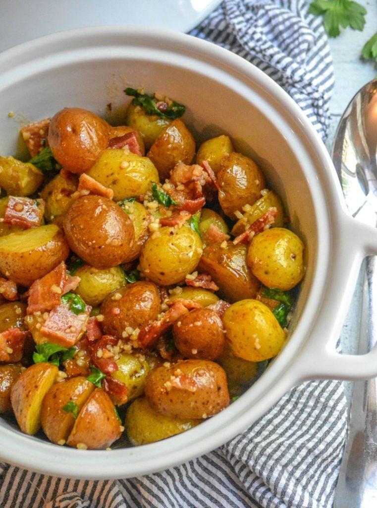honey mustard dressing tossed bacon & warm potato salad