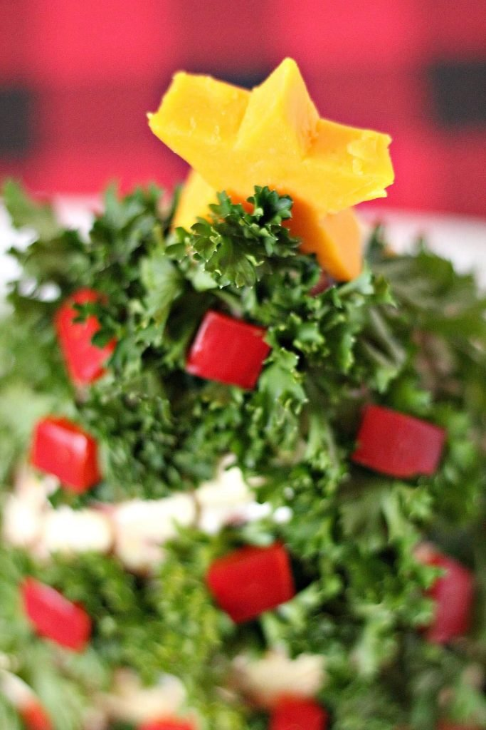 Christmas Tree Themed Holiday Cheese Ball