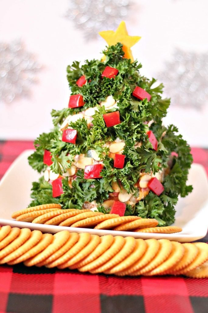 Christmas Cheese Ball.Christmas Tree Themed Holiday Cheese Ball 4 Sons R Us