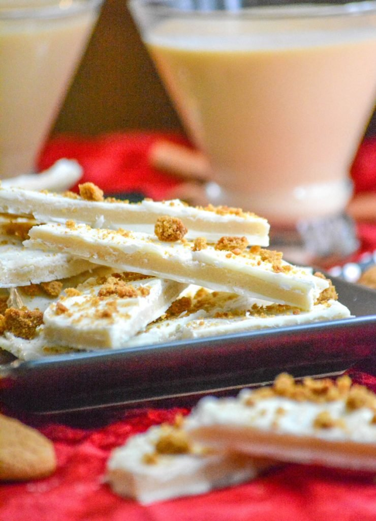 Eggnog Cookie Dough Bark