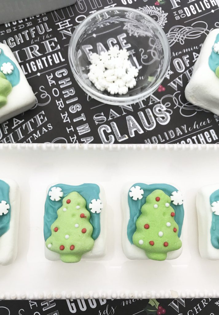Christmas tree window marshmallows