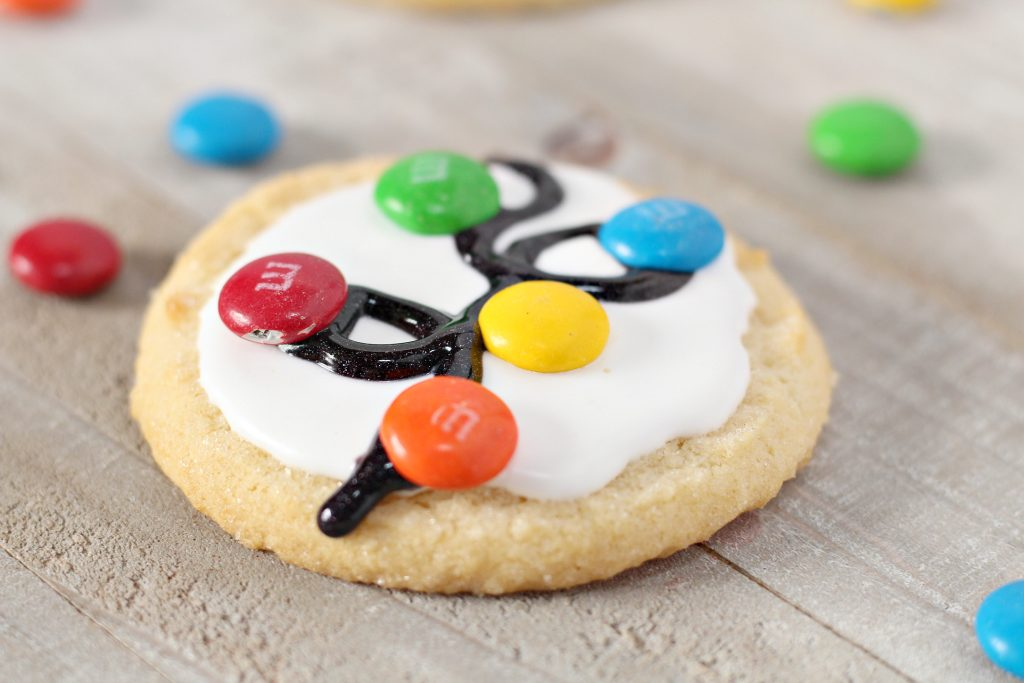 Christmas light cookies