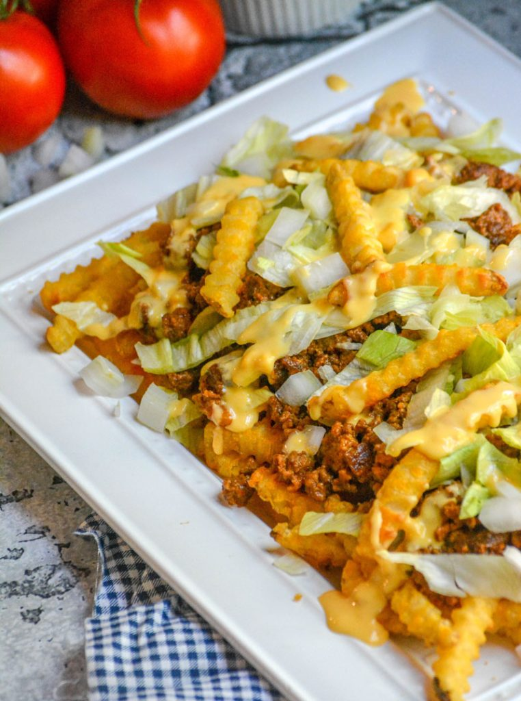 Bacon Cheeseburger French Fry Platter