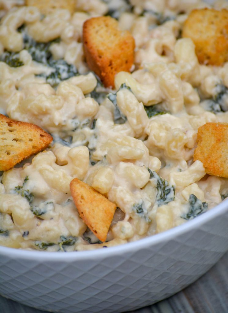 Caesar Mac & Cheese with Kale