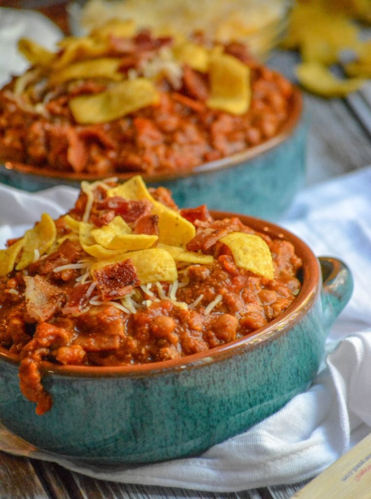 Ground Beef & Bacon Baked Bean Chili